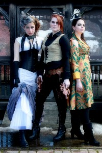Steampunk fashion shoot by Alana Gordon Photography.